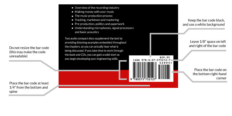 Book Barcode Sizes Isbn Barcode Formatting Bar Code Graphics
