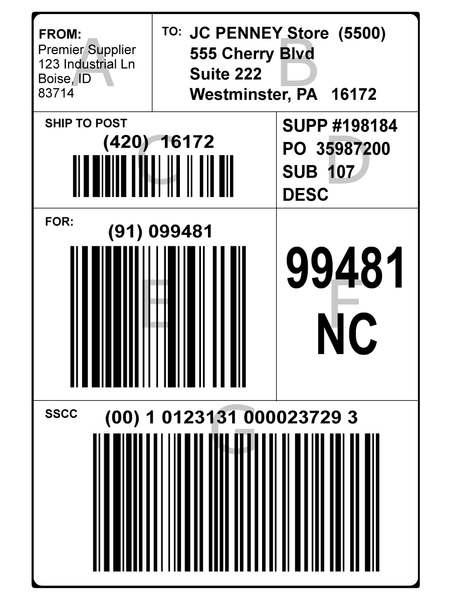 gs1128 shipping label glossary bar code graphics