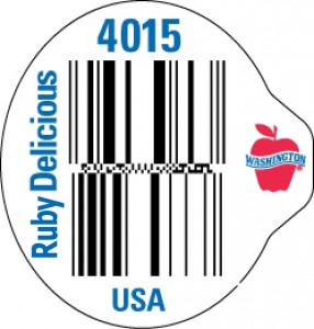 wa red delicious databar label