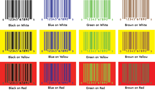 UPC Color Guide and free Color Combo PDF - Bar Code Graphics
