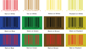 Revised UPC Non-Scannable Color Combinations