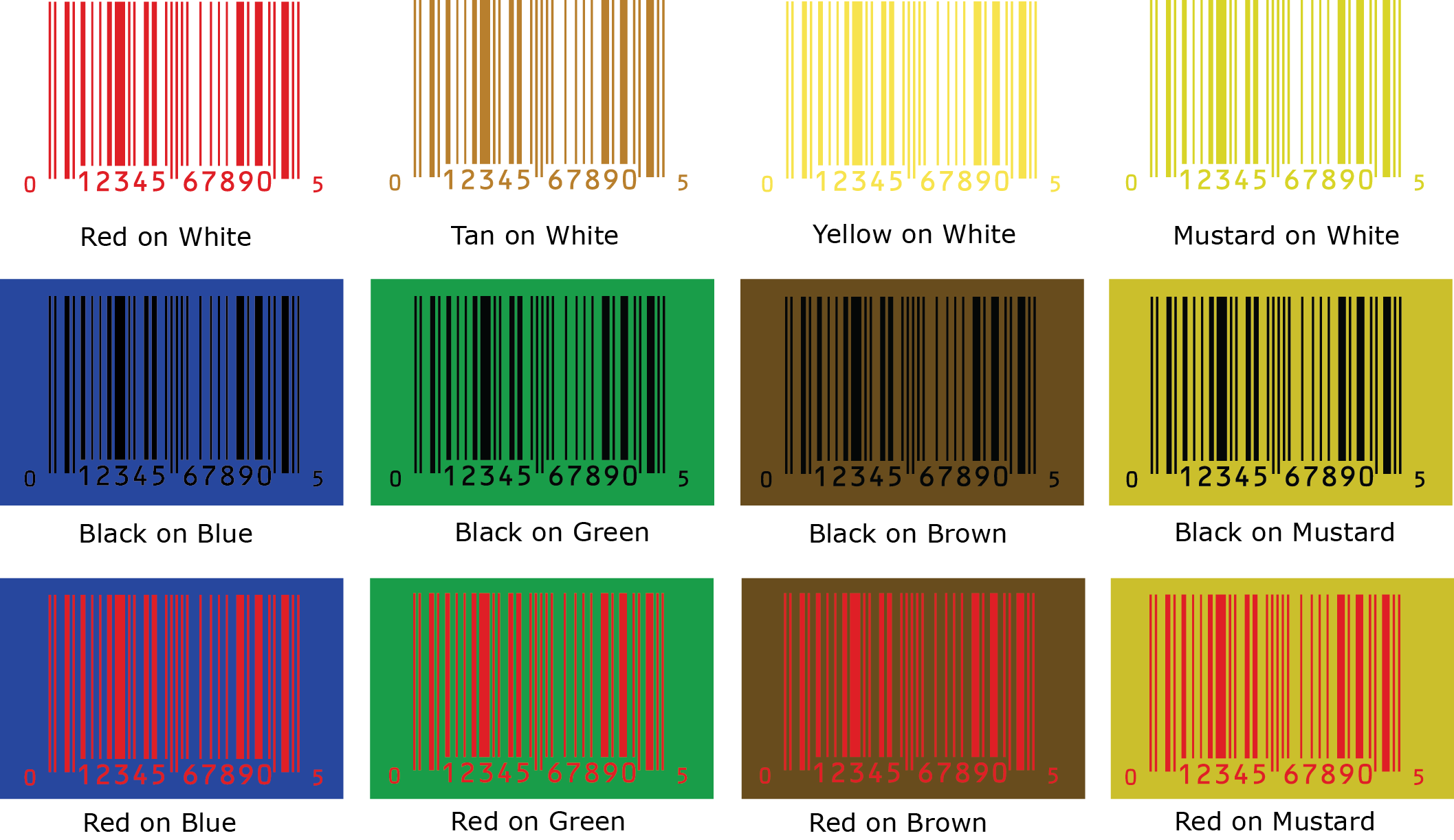 Food Color Combinations Tools Barcode Color Guide Bar Code Graphics